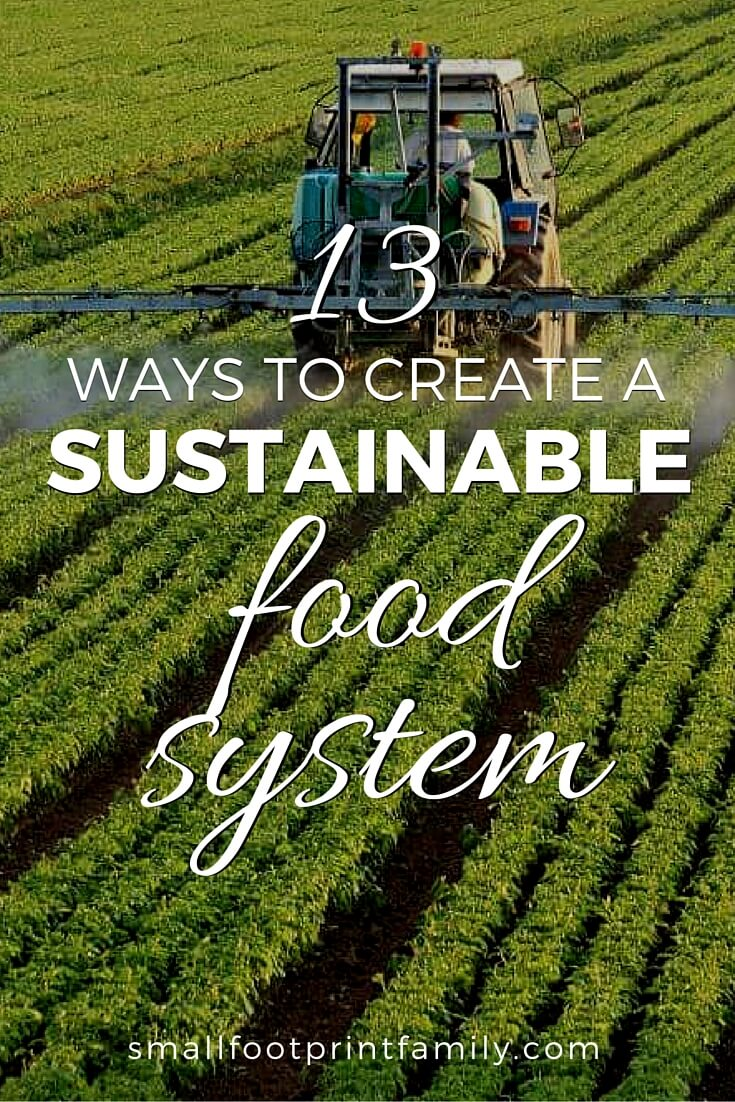 In order to create a sustainable food system, we must leverage the full range and force of private and public activity. Here's 13 ways to do that.