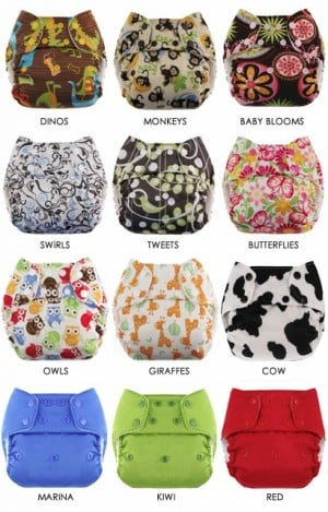 different styles of cloth diapers