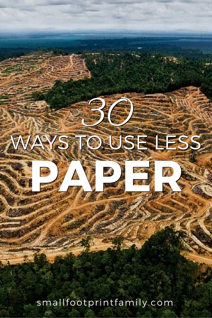 Paper not only requires forests to be cut down, it is also substantially more resource intensive to produce than you would think. Click to get 30 ways you can save paper (and money) at home, school and work.