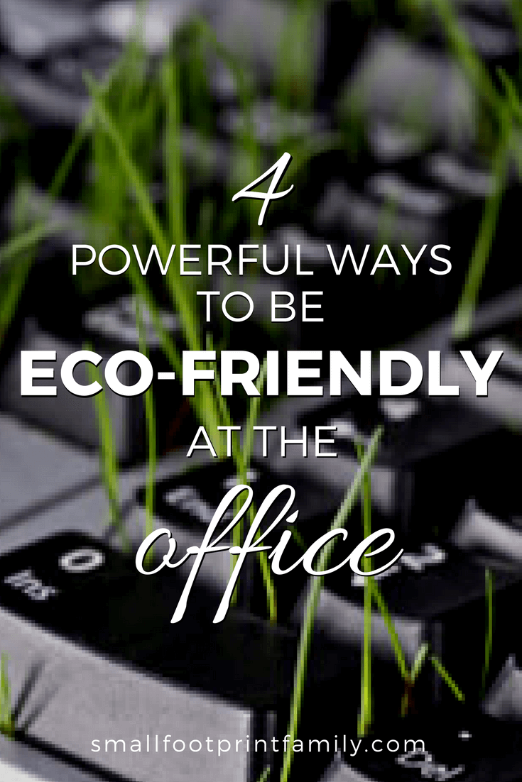 "Even if your company hasn't ""gone green"" as a whole, there are things you can do and habits you can adopt as an employee to make your workplace more eco-friendly."