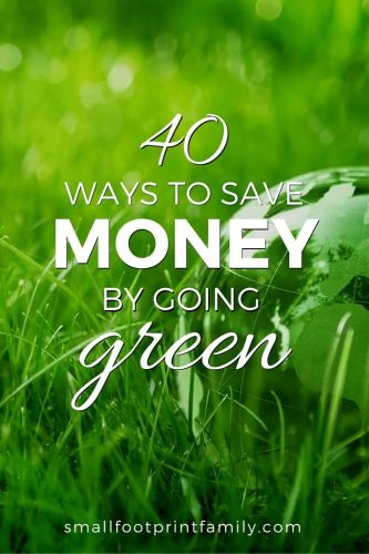 Click here for 40 basic entry points to going green that will not only go easy on the planet, but will go really easy on your wallet, too.