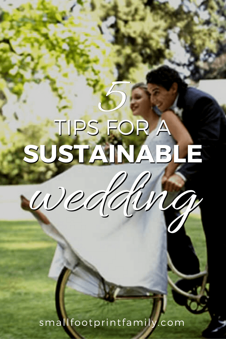 Sadly, weddings can have many environmental repercussions, and that's why it's important to try and keep these wonderful occasions as eco-friendly as possible. Here are five tips you can follow to make sure your wedding is sustainable.#greenliving #greenparenting #ecofriendly #sustainability #gogreen #naturalliving #climatechange #wedding #moneysavers #savingmoney