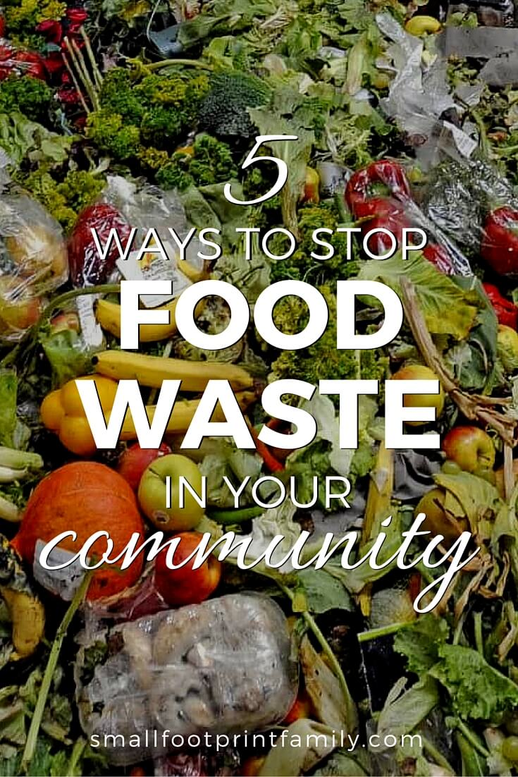 On average, Americans waste 40% of all food, which costs about $600 a household per year. Here's five ways to stop food waste in your community.