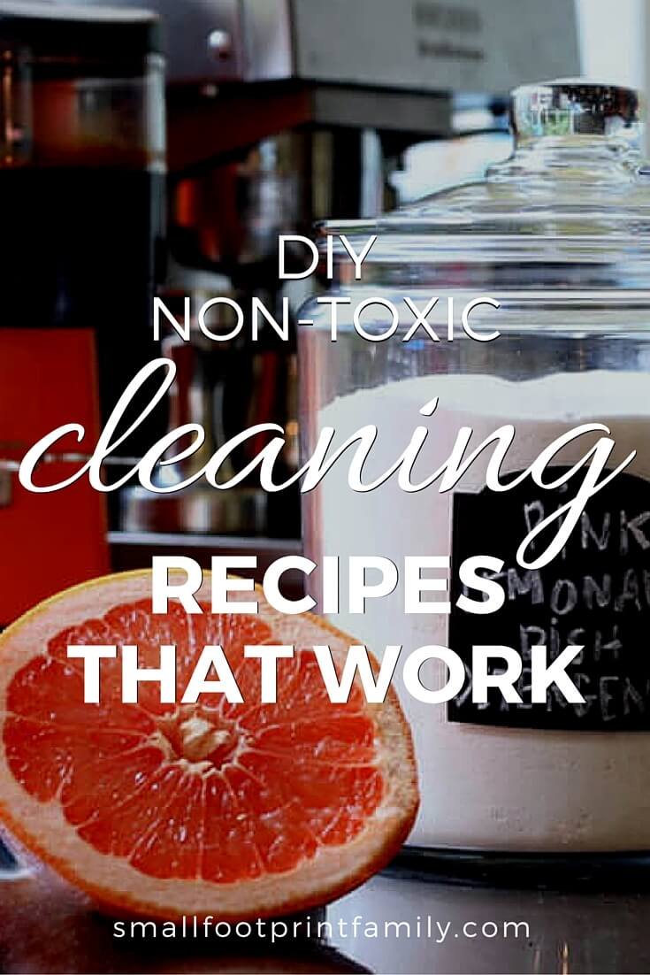 Rather than buying toxic products off the shelf you can make your own non toxic cleaning recipes from inexpensive ingredients that you have in your kitchen. My favorite DIY book will show you how to make cleaning products that actually work!#greenliving #greencleaning #ecofriendly #sustainability #gogreen #naturalliving #climatechange #nontoxic #greenparenting