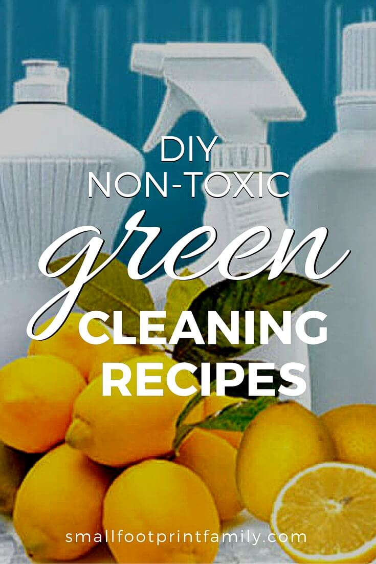 Being healthy and green often means saving money too! These effective, non-toxic green cleaning recipes cost just pennies to make.#naturalhealth #naturalliving #diy #recipe #nontoxic #greenliving #greenparenting #ecofriendly #sustainability #gogreen #airpollution