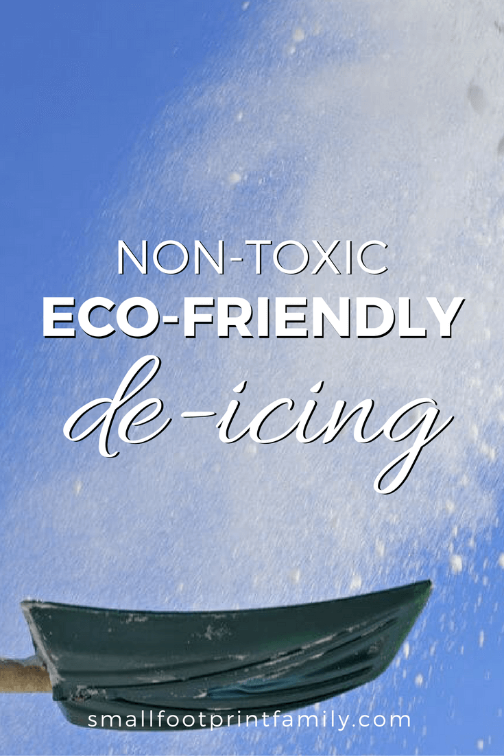 As snow falls this week, choose eco friendly de-icing salts because most conventional deicers are harmful to pets, kids, cars and local wildlife and rivers.