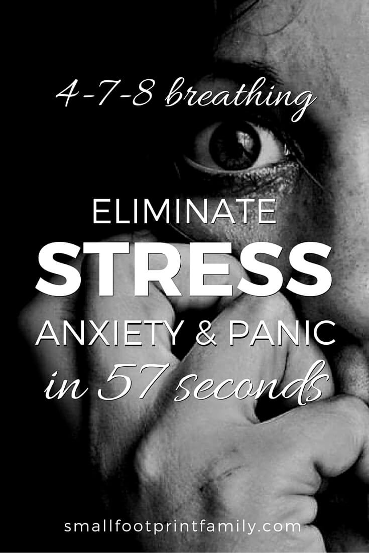The 4 7 8 breathing technique takes the shallow, oxygen poor, carbon dioxide rich breathing you do when you are stressed out, and turns it upside down, giving you quick relief from anxiety, panic and stress. Click to learn how to do it!#naturalhealth #naturalliving #diy #alternativemedicine #foodismedicine #herbalmedicine #breathwork #stressrelief