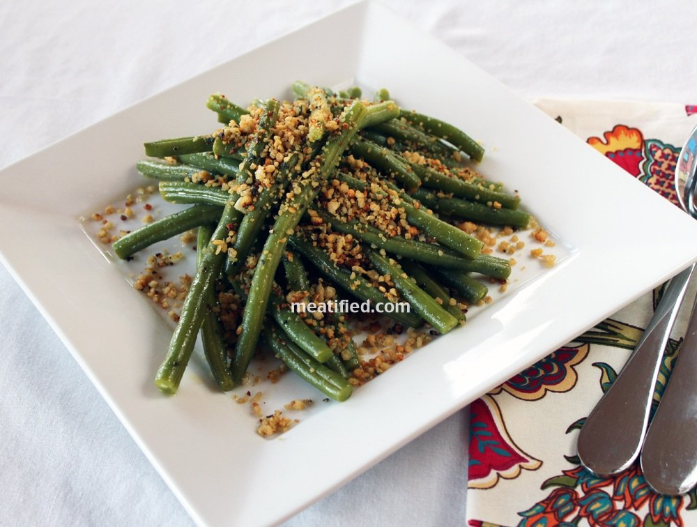 Green Beans with Lemon & Sage Crumbs
