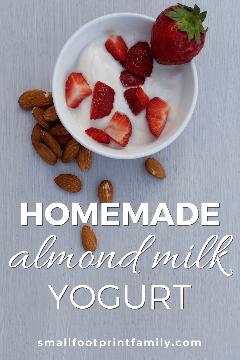 This homemade almond milk yogurt recipe is a delicious, affordable option if you and your family love yogurt but are vegan or can't tolerate dairy products.#paleo #paleodiet #vegan #vegetarian #lactofermentation #fermentation #recipe #yogurt #dessert #snack