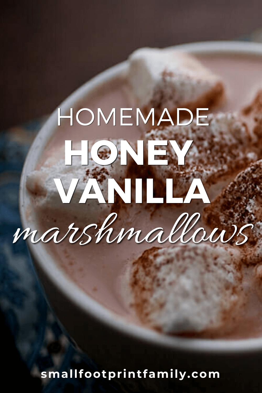 homemade marshmallows in a mug of hot chocolate