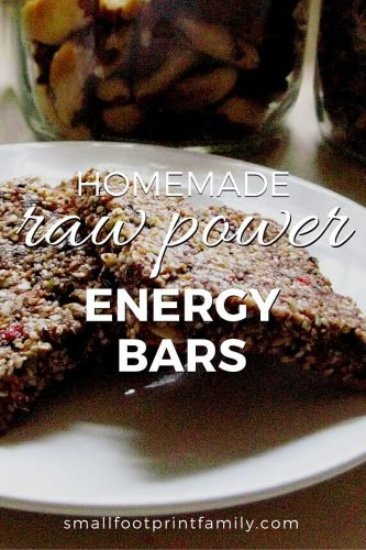 raw energy bars on a white plate