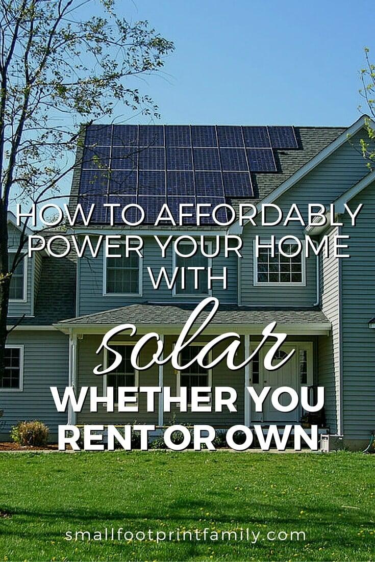 Solar Panel Leasing Small Footprint Family