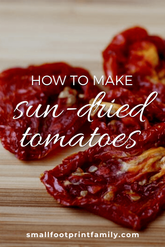 sun-dried tomatoes on a wood countertop