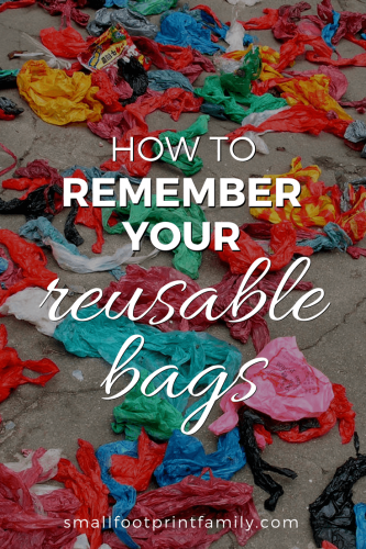 Like eating healthy or any other lifestyle improvement, by putting a system in place to make it easy, you can be sure you always have your reusable bags at the store.