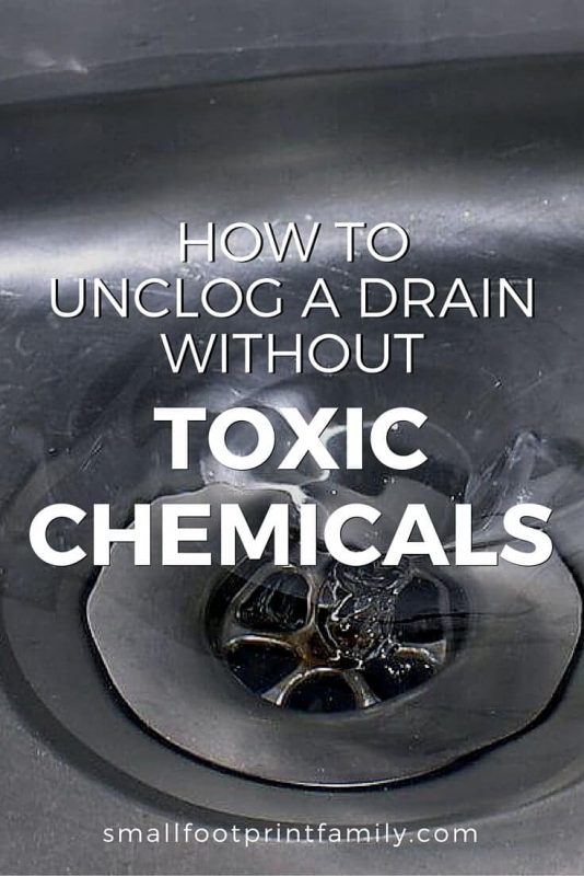 Too often we reach for the toxic stuff to get the job done, when there are easy, safe and natural ways to unclog a drain without chemicals.