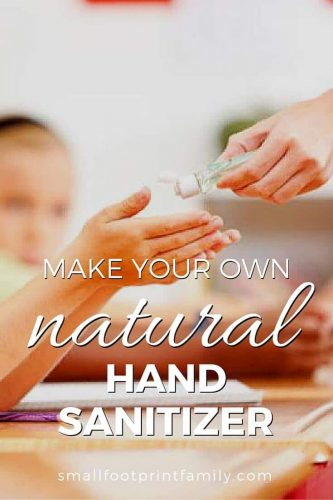 The ingredients in the average hand sanitizer are highly toxic, not only to germs, but to you. Here's why you want to ditch the store-bought stuff and use this DIY natural hand sanitizer recipe instead.