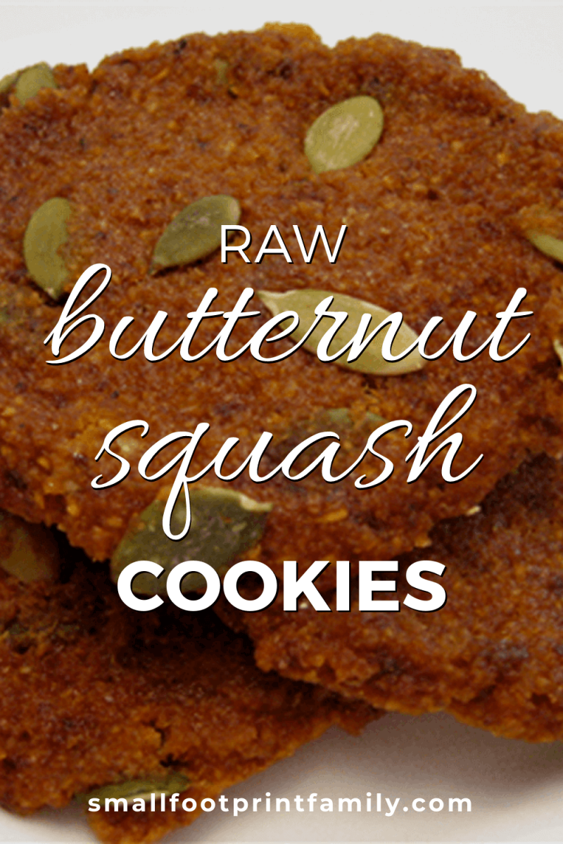 butternut squash cookies with pepitas on them