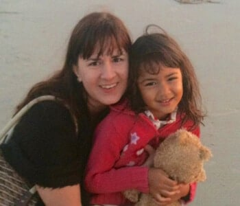 Photo of Dawn Gifford of Small Footprint Family and daughter