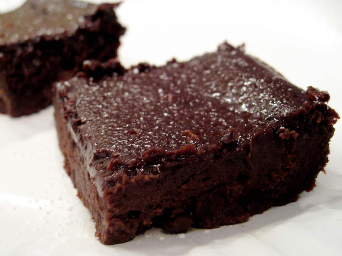 Black Bean Blender Brownies Gluten Free Dairy Free Small Footprint Family