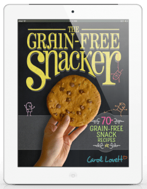 The Grain Free Snacker - A beautifully photographed ebook with over 70 grain-free, dairy-free snack recipes!