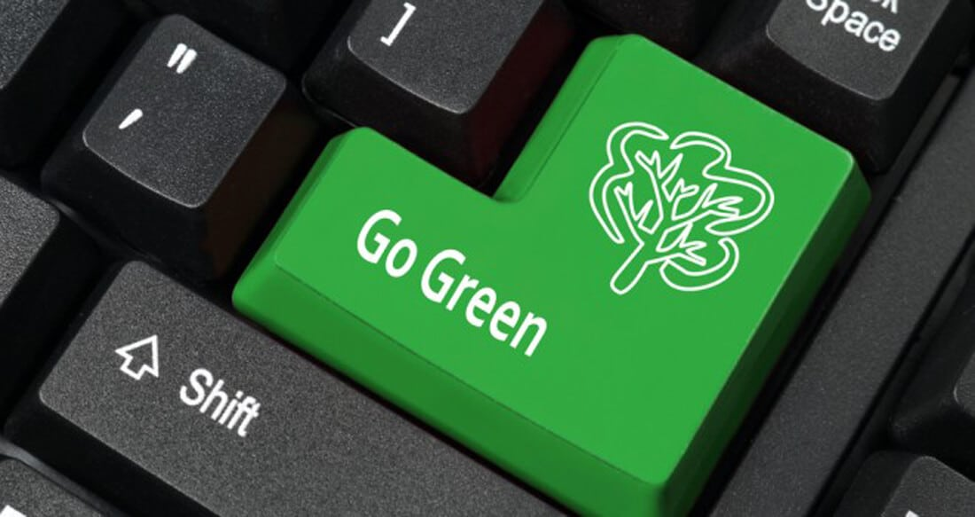 """Even if your company hasn't """"gone green"""" as a whole, there are things you can do and habits you can adopt as an employee to make your workplace more eco-friendly."""