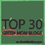 Top 30 Green Mom Blogs Badge