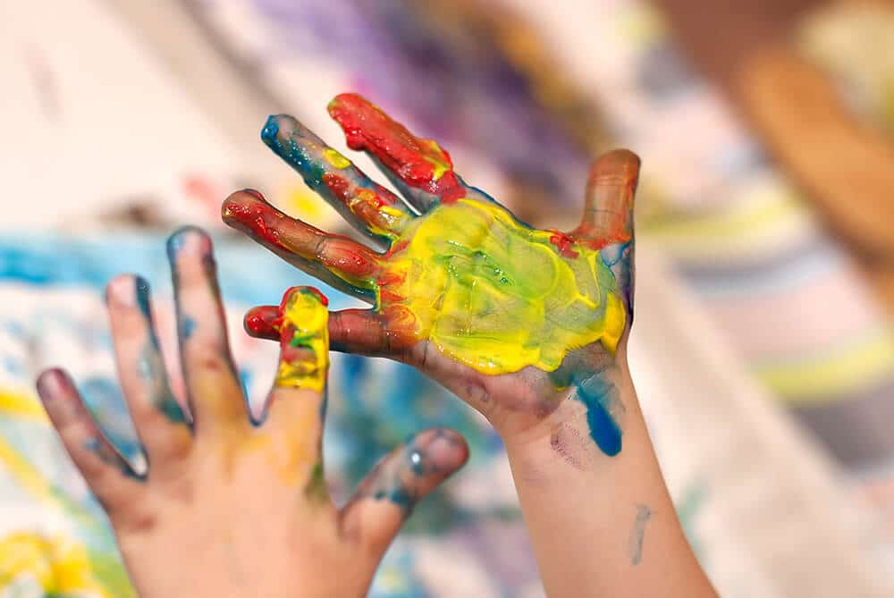 Store-bought finger paints can contain toxic chemicals and allergens that can harm your child. Here's a non-toxic alternative you can whip up in your kitchen.