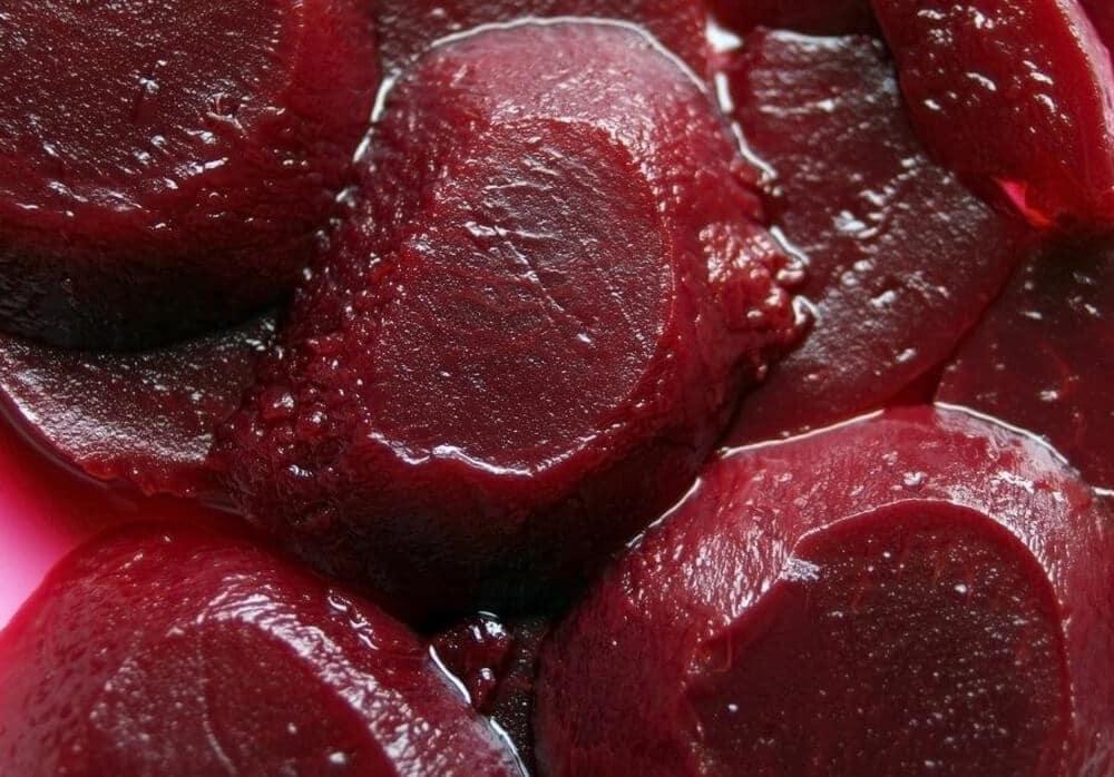 sliced pickled beets