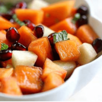Pomegranate and persimmon salad brings a brightness to the autumn table and holiday season. This salad highlights the best of both of these seasonal fruits. Click to get the recipe!