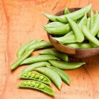 snap peas in a bowl on the table