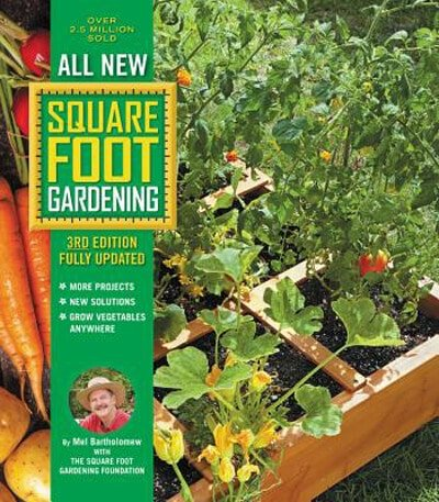 cover art for the Square Foot Gardening book